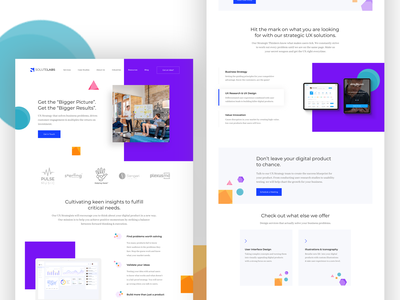 UX Strategy Web Page Exploration website design website product page product agency services page services uiux uxui uidesign ui design ux design webdesign web app web  design web page design