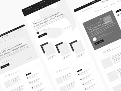 Hi Fi Wires blog layout blogging blog ux ux design user experience