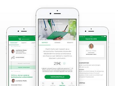 Mehiläinen customer application healthcare ux app ios