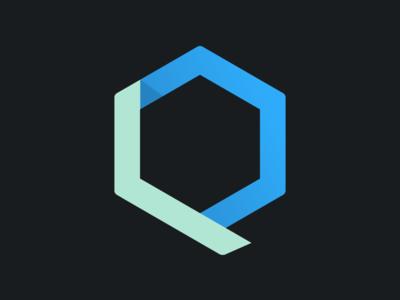 Q branding personal logo dark green blue fonts typography illustrator letter q