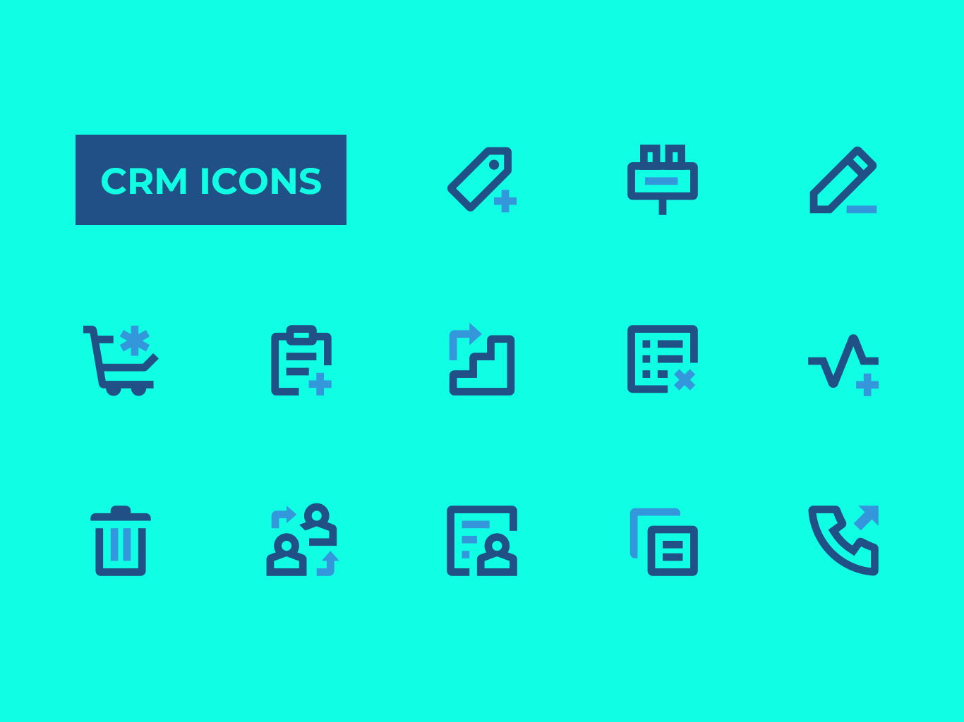 CRM Icons ui vector icon