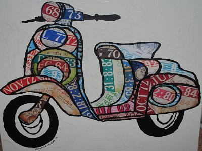 Lambretta Scooter tax disc art tax discs tax disc vespa scooter lambretta