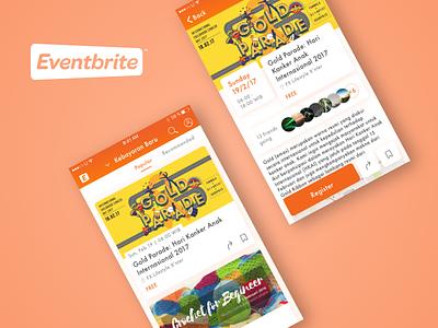 Discover - Eventbrite Redesign eventbrite event detail ui travel detail feed redesign events app