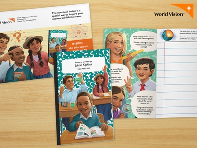World Vision Back-to-School Notebook photoshop painting children kids character digital painting illustration