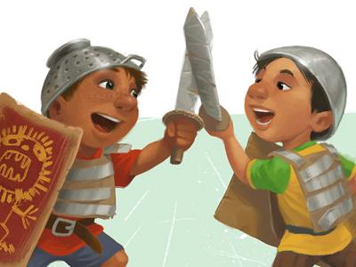 Illustration swordfight