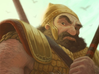 Goliath illustration painting digital painting character bible david goliath faith sketch dailies giant warrior