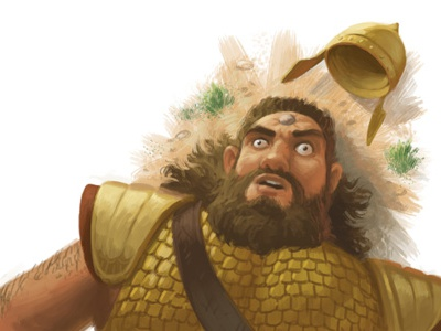 Goliath children goliath bible digital painting painting illustration