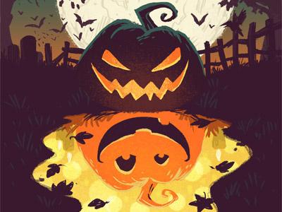 Redeem Halloween jack o lantern face spooky scary illustration photoshop digital art pumpkin halloween