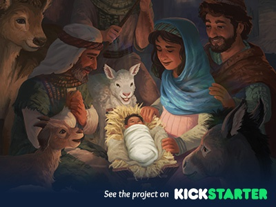 The Advent Storybook advent christmas storybook bible crowdfunding kickstarter design book characters digital painting illustration