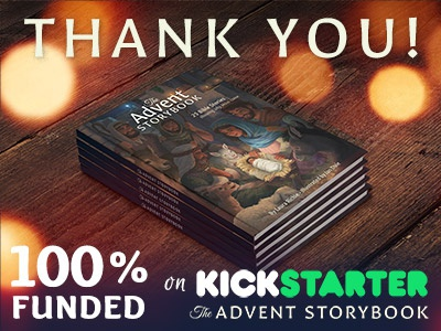 Update: The Advent Storybook is funded! advent christmas storybook bible crowdfunding kickstarter design book characters digital painting illustration