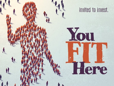 You Fit Here invitation welcome graphic sermon series church body vector digital painting art illustration