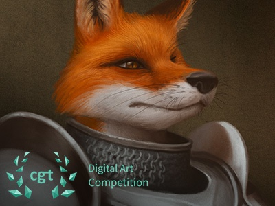 The Fox Knight - CGTrader Digital Art Competition photoshop character digital painting painting illustration