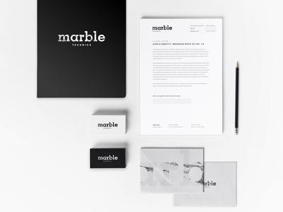 Marble identity france paris logo brand graphique identité marbre marble