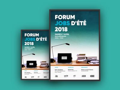 Print Forum Job french gradient blue sea france communication affiche print job forum