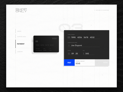 Shoponly - Checkout Page shop black creditcard card checkout page daily 100 dailui