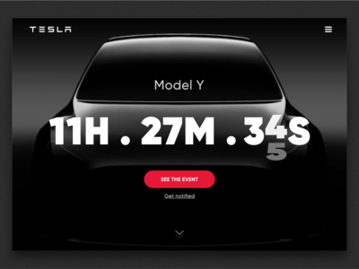 Daily UI #014 - Countdown Timer - Tesla countdown tesla web design web ux user interface ui minimal layout landing interface homepage dailyui dailyui014 concept