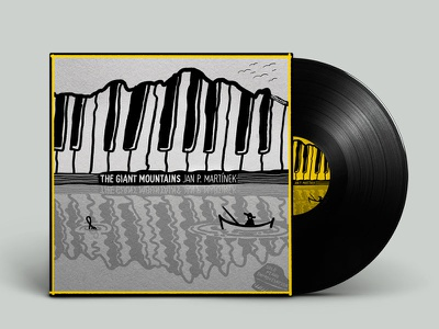 LP Design mountains drawing music lp