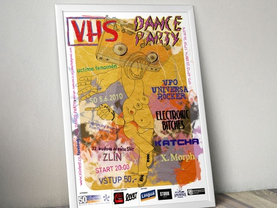 Party poster poster illustration party