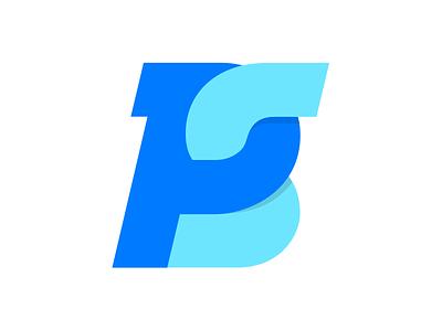 PS monogram font letering flat s p ps logo monogram