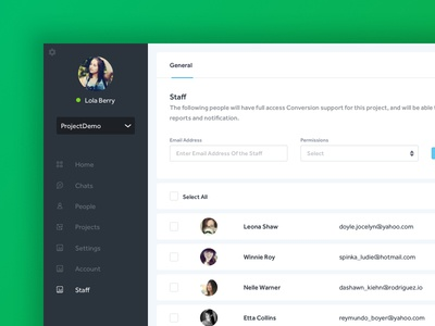 Chat Support - Add and Manage Staff