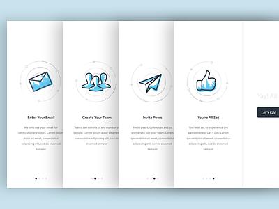 Onboarding - Team Collaboration Web App group collaboration design chat team app web sketch blue illustration onboarding