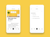 Mobile blog ui