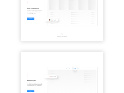 Mail App - Onboarding Screens (Mac OS) inbox mail web app macos design minimal white web app walkthrough mac onboarding
