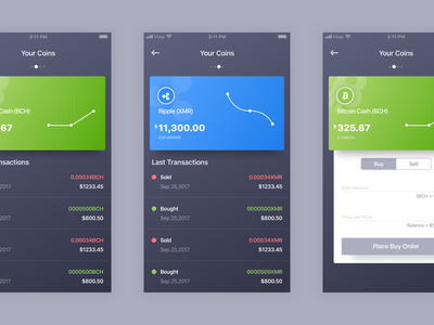 Crypto Wallet App Concept #3 Interaction wallet sketch interaction mobile ios after effects design dark cryptocurrency coin bitcoin app