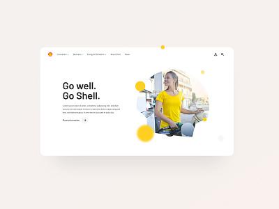 Shell – Homepage shell interface interfacedesign website design ux  ui ui digitaldesigner userinterfacedesign digitaldesign