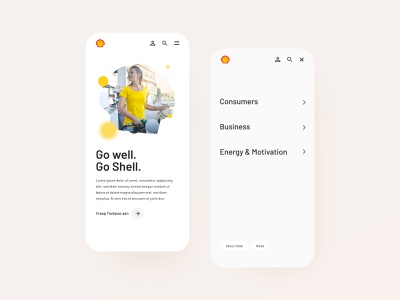 Shell –Mobile Website mobile ui userinterfacedesign design