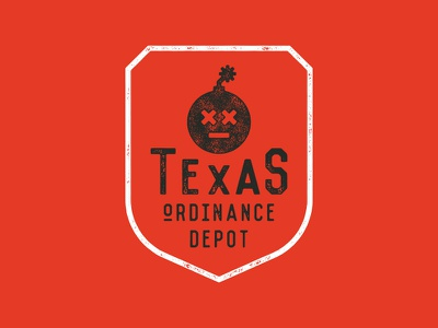 Texas Ordinance Depot design logo branding graphic design typography
