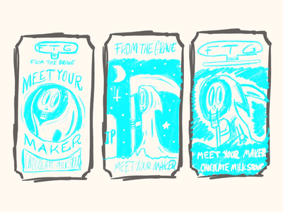 Sketches for beer designs.