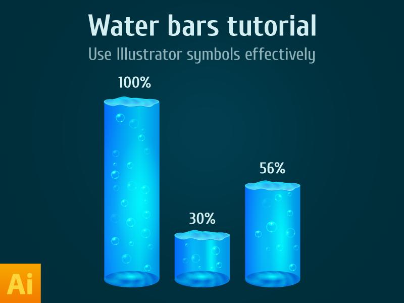 Water Bars Tutorial psddd illustrator water infographic tutorial ai free freebie vector