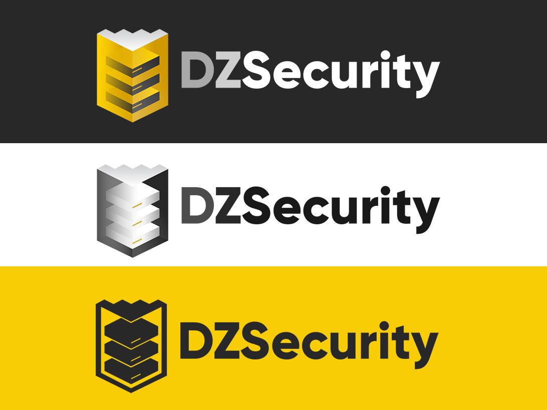 DZSecurity logo security logo art algeria dz illustration design logo