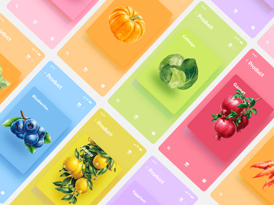 Vegan app product design product animacion ios app mobile uiux minimal flat clean ux interface ui design