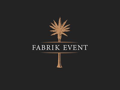 Fabrik Event Illustrated Logo oldschool classic tree palm illustration corporate design logo event