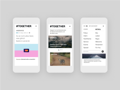 #Together UI Design ux ui together interface gui employee magazine digital magazine