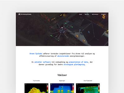 Dronesystems Landingpage UI website ui landingpage dronesystems drone