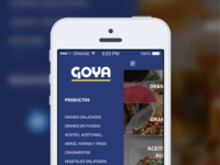 Side Menu - Goya RD App