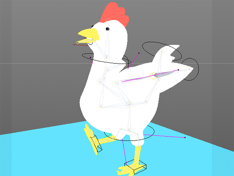 3D Chicken - Speed Model and Rig by Josh Smithness on Dribbble