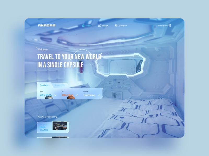 AHAORA Space Travel design web interface experience ux ui tourist tours tourism world earth mars tour travel space