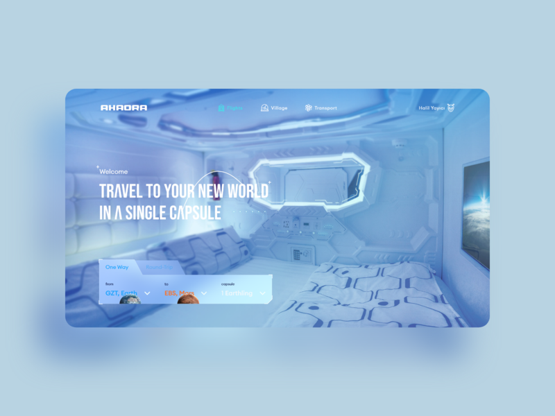 AHAORA Space Travel tourist interface travel tours world earth mars tourism space experience ux ui design