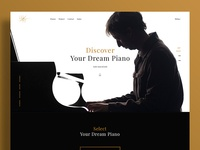 Piano One Page Web Design