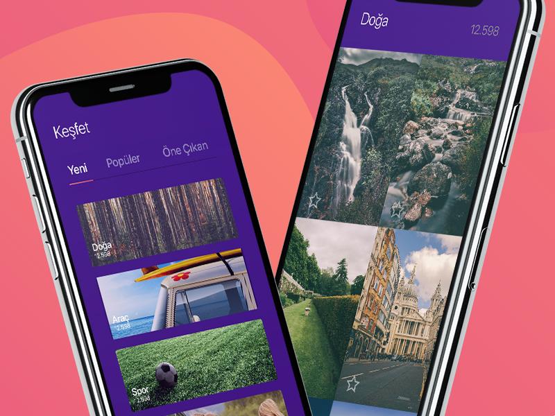 Wallpaper App background ux user ui wallpaper mobile iphonex interface experience design app