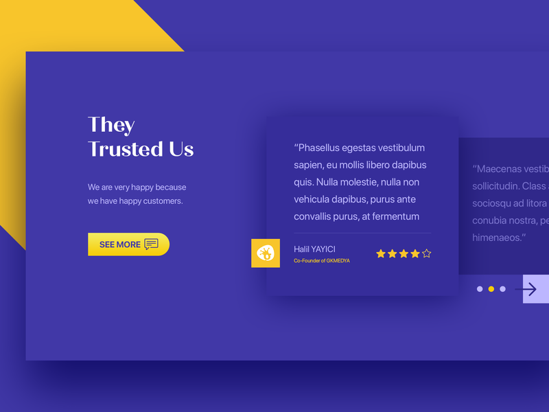 Comments testimonial comments typography web interface experience ux ui design