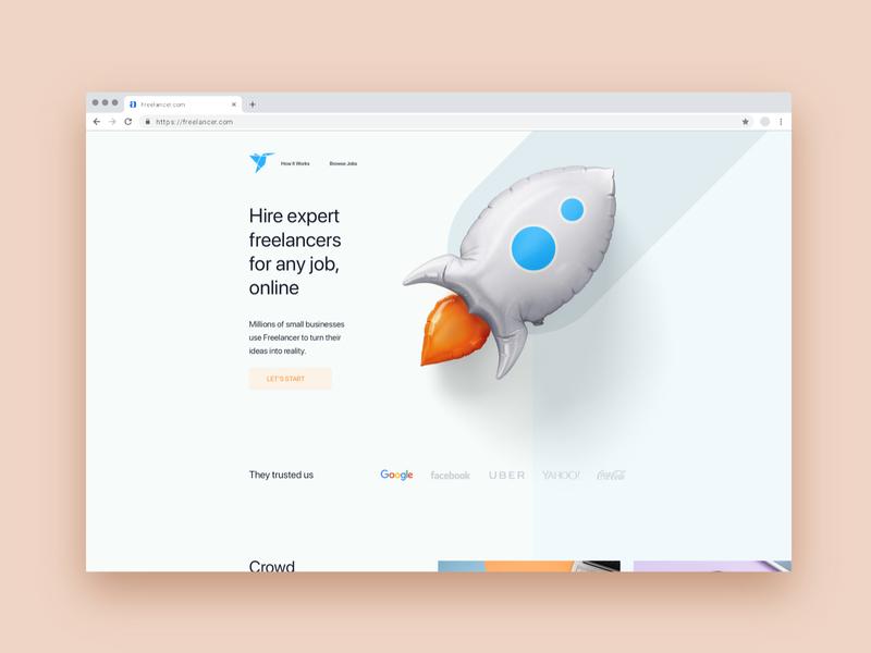 Freelancer Redesign artboardstudio redesign chrome freelancer freelance illustration vector icon typography user web interface experience design ux ui