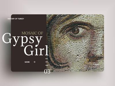 Mosaic of Gypsy Girl