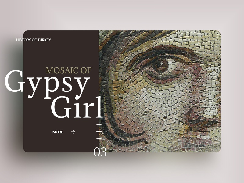 Mosaic of Gypsy Girl gypsy girl mosaic zeugma landing design landing page typography web interface experience ux ui design