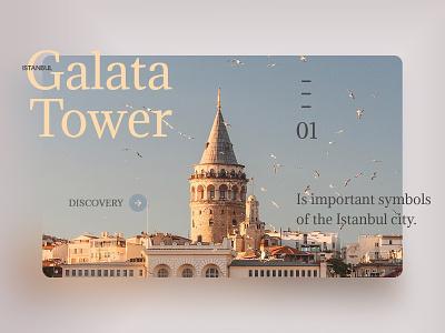 Galata Tower galata tower istanbul landing design landing page typography user web interface experience ux ui design