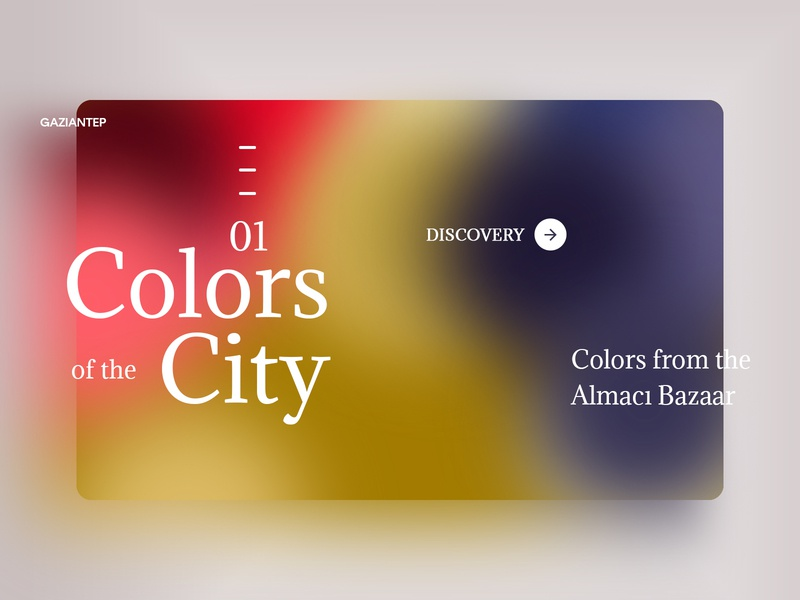 Colors of the City landing design landing page city color typography web interface experience ux ui design